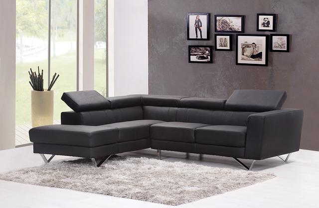 soggiorno moderno divano in pelle